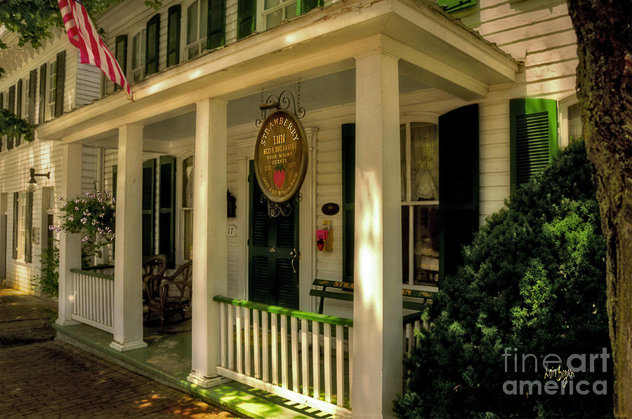Architecture Photograph - The Strawberry Inn by Lois Bryan