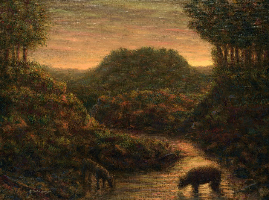 Stream Painting - The Stream by James W Johnson