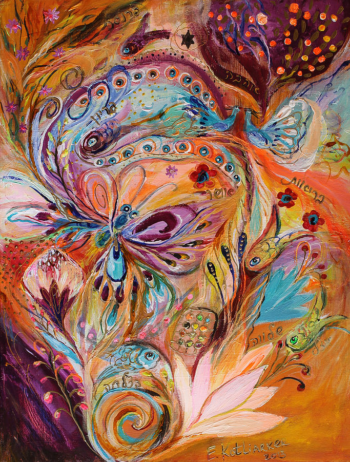 Judaica Store Painting - The Stream Of Life Part II by Elena Kotliarker