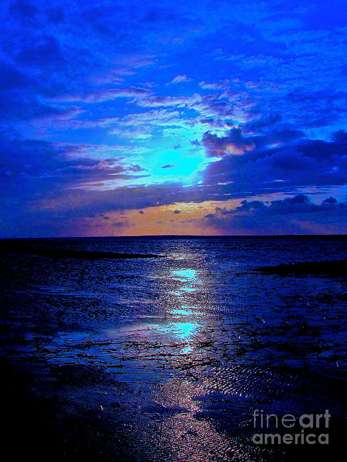 Ocean Photograph - The Stream Of Night by Qs House of Art ArtandFinePhotography
