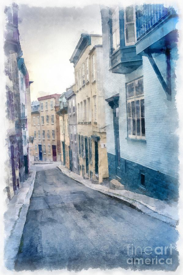 Canada Photograph - The Streets Of Old Quebec City by Edward Fielding