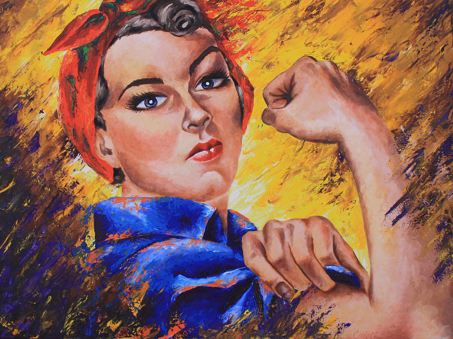 Woman Painting - The Strength Within by Connie Mobley Medina