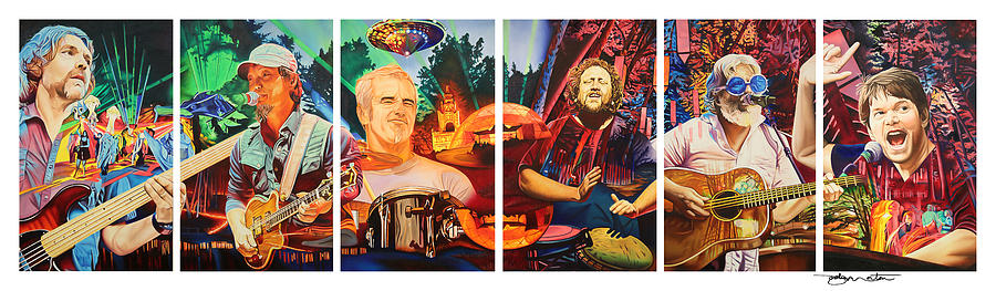 The String Cheese Incident Painting - The String Cheese Incident At Hornings Hideout by Joshua Morton
