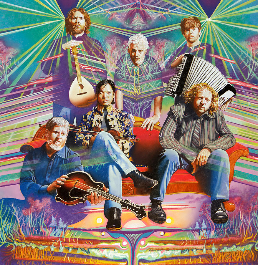 The String Cheese Incident Drawing - The String Cheese Incident At Hsmf by Joshua Morton