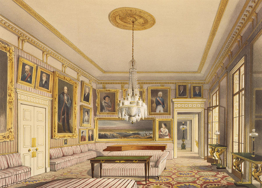 Hyde Park Corner Painting - The Striped Drawing Room, Apsley House by Thomas Shotter Boys