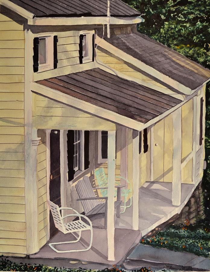 Country Life Painting - The Summer Porch by Thomas Stratton