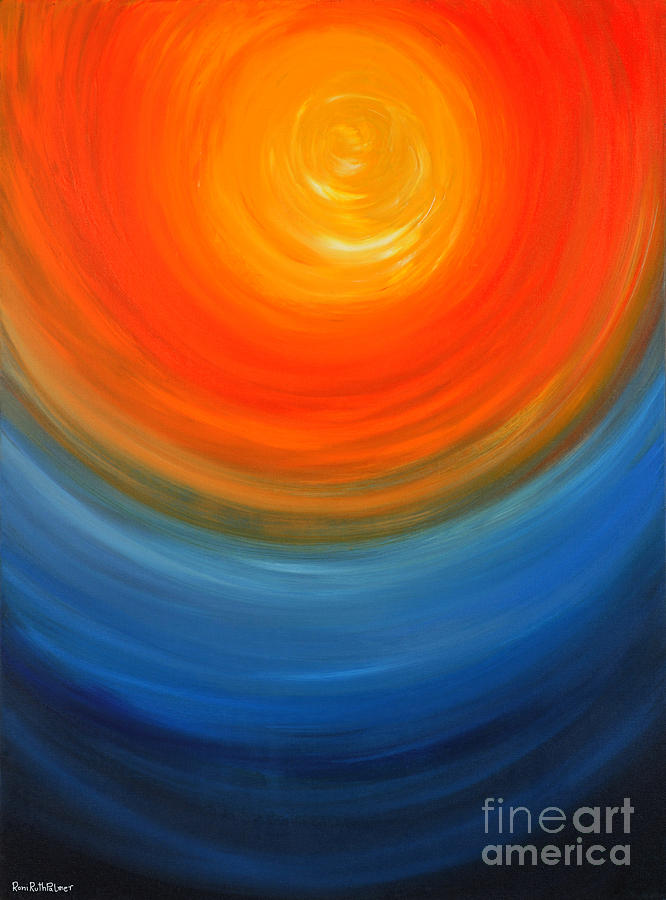 Abstract Painting - The Sun And The Sea by Roni Ruth Palmer