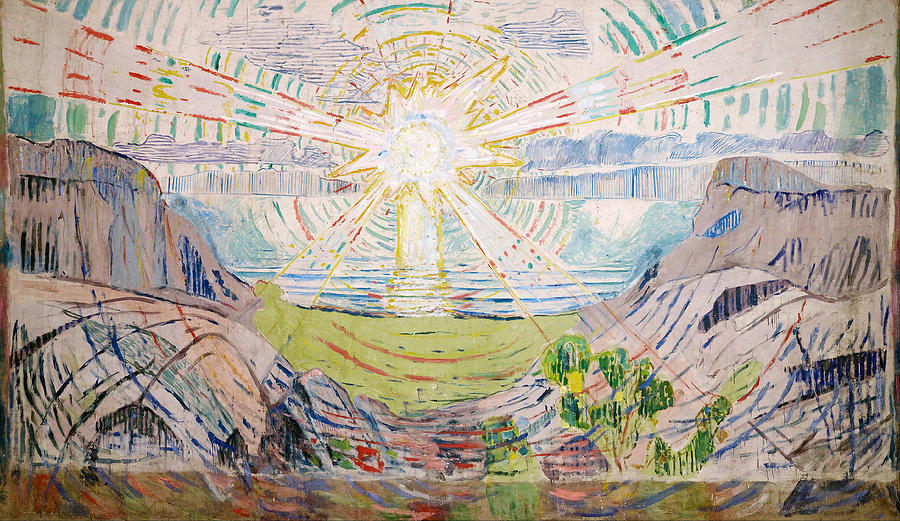 Edvard Munch Painting - The Sun by Edvard Munch