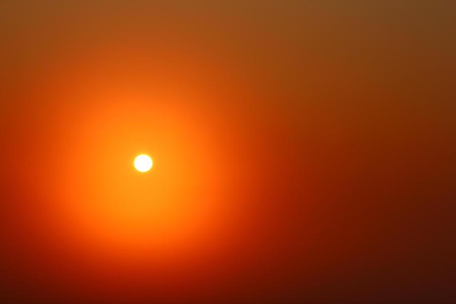 Sunrise Photograph - The Sun by Heike Hultsch
