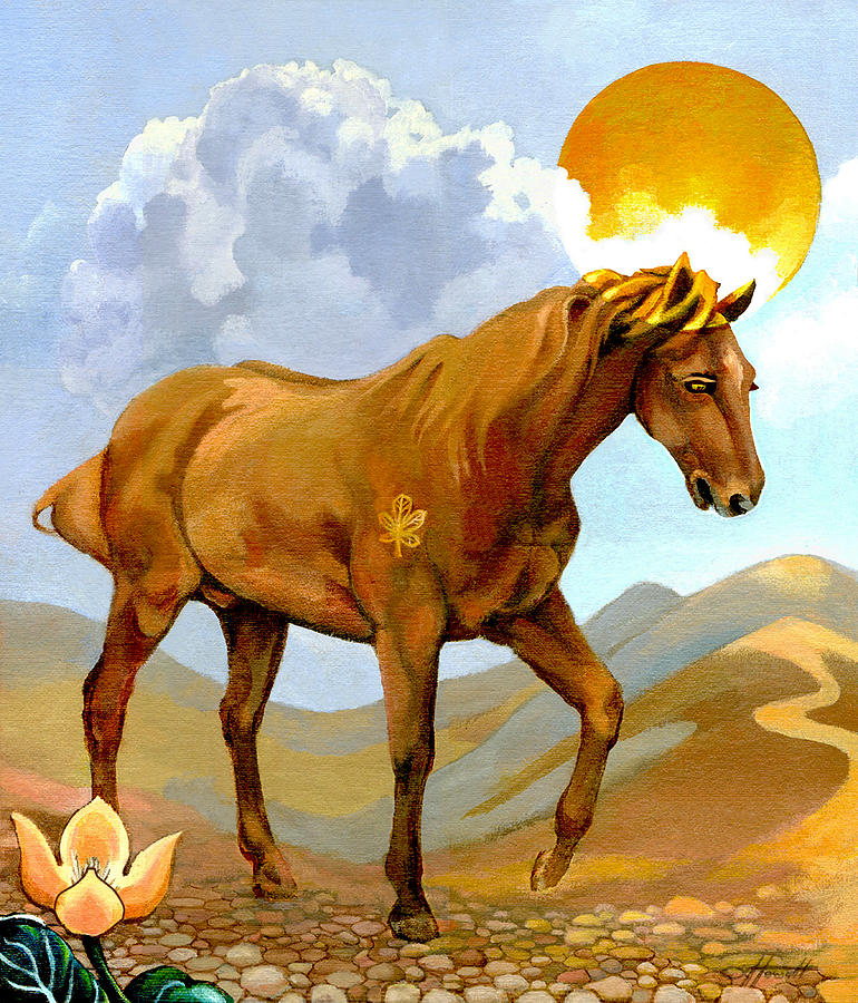 Horse Painting - The Sun King by Patricia Howitt