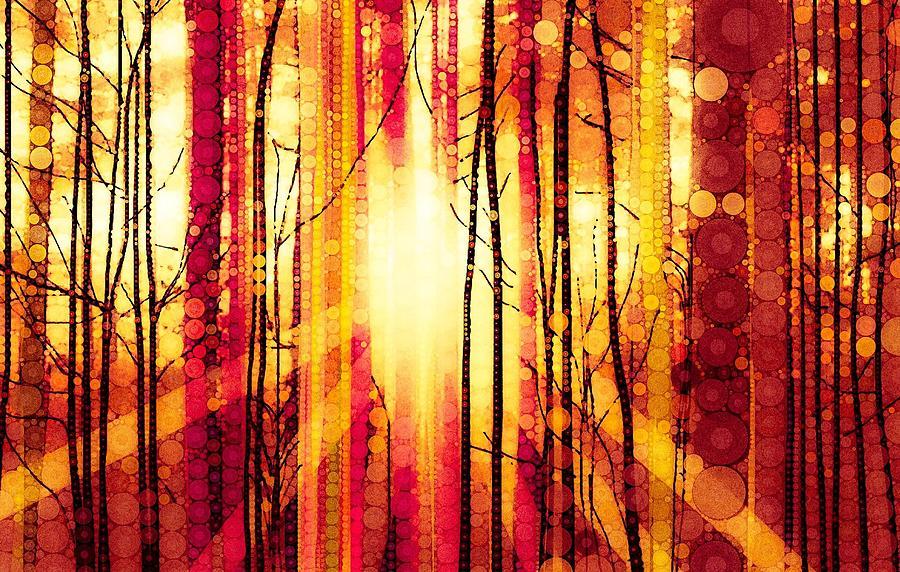 Sunrise Digital Art - The Sun by Steven Boland