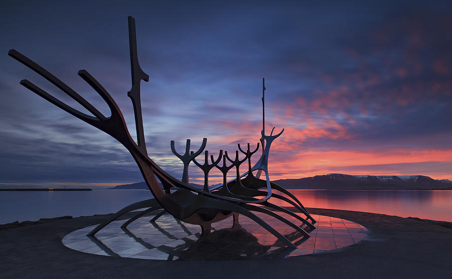 Iceland Photograph - The Sun Voyager ... by Iurie Belegurschi