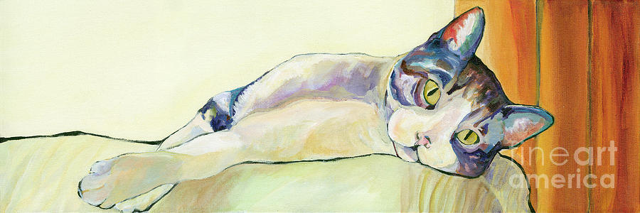 Pet Canvas Prints Painting - The Sunbather by Pat Saunders-White