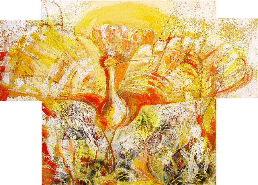 Sun Painting - The Suns Bird by Otilia Gruneantu Scriuba
