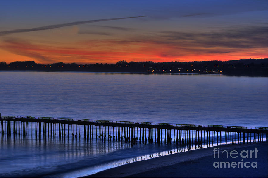 Sunset Photograph - The Sunset And The Pier by Morgan Wright