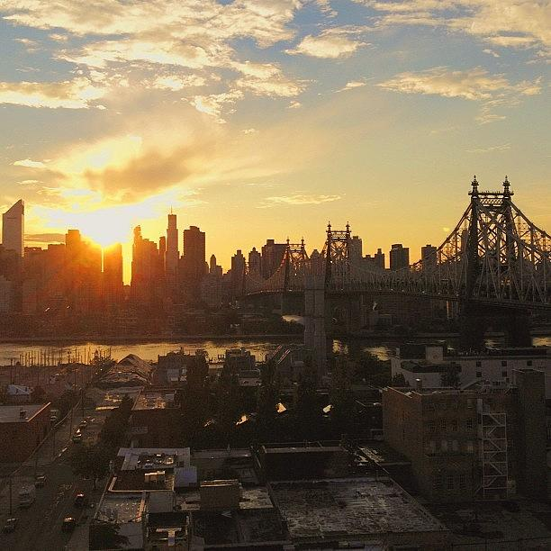 Nyc Photograph - The Sunset In #nyc Yesterday Evening by Vivienne Gucwa
