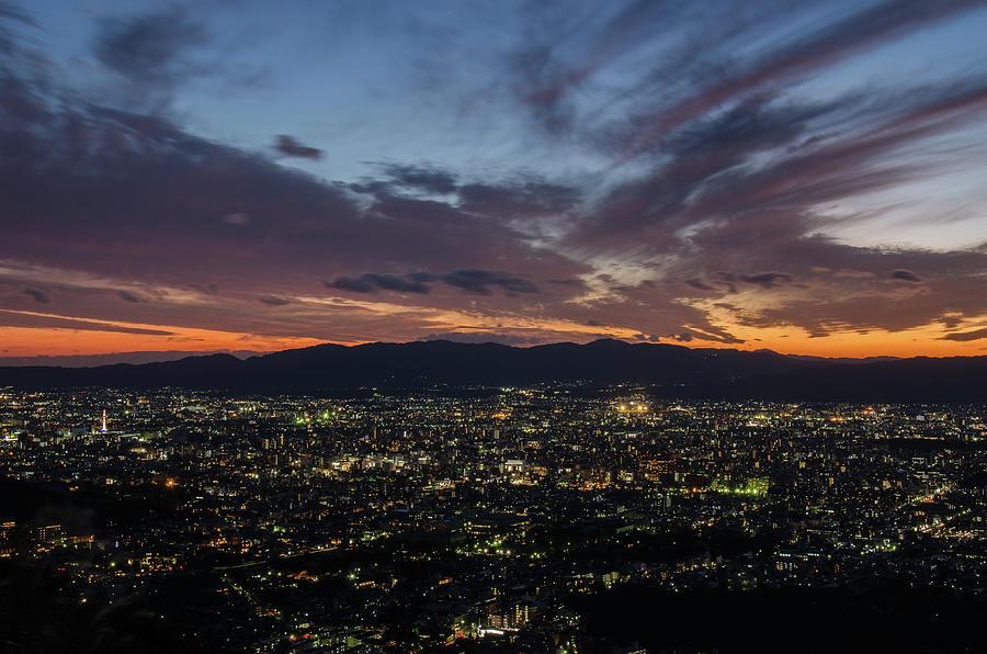The Sunset Time Of Kyoto Photograph by Kaoru Hayashi