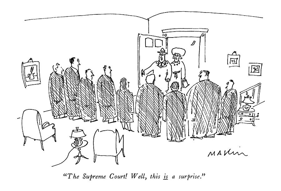 The Supreme Court! Well Drawing by Michael Maslin
