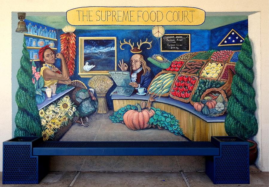 Mural Painting - The Supreme Food Court by Elizabeth Criss