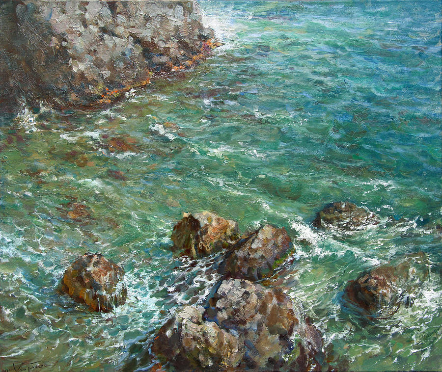 Landscape Painting - The Surf by Korobkin Anatoly