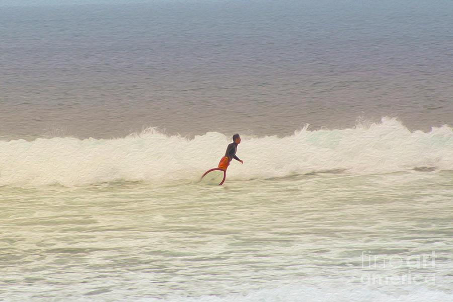 Surfer Digital Art - The Surfer by Nur Roy
