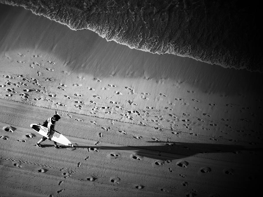 Black And White Photograph - The Surfers Steps by Rod Sterling
