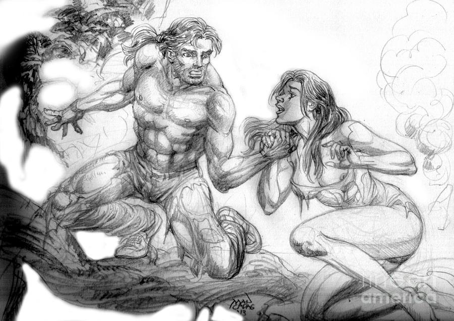 Illustration Drawing - The Survivor by Manuel Cadag