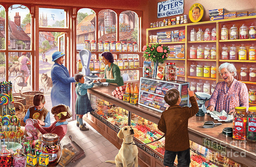 Windows Digital Art - The Sweetshop by Steve Crisp
