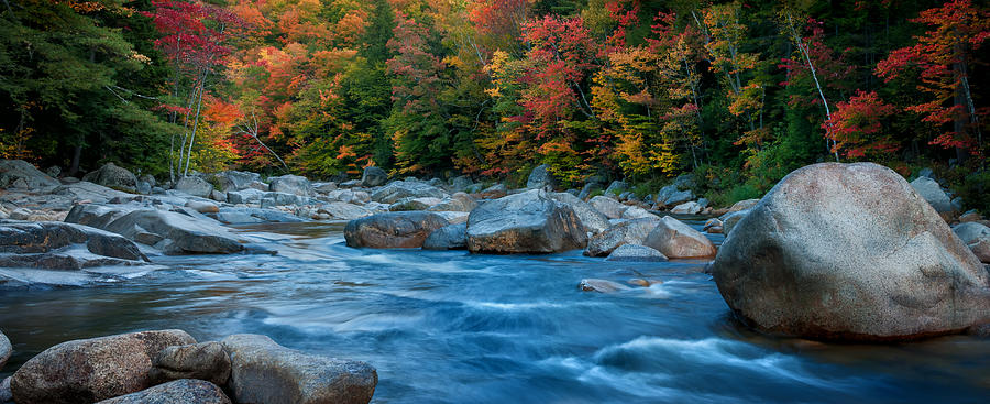 Swift River Photograph - The Swift River Of New Hampshire-an Autumn Grand Landscape by Expressive Landscapes Nature Photography