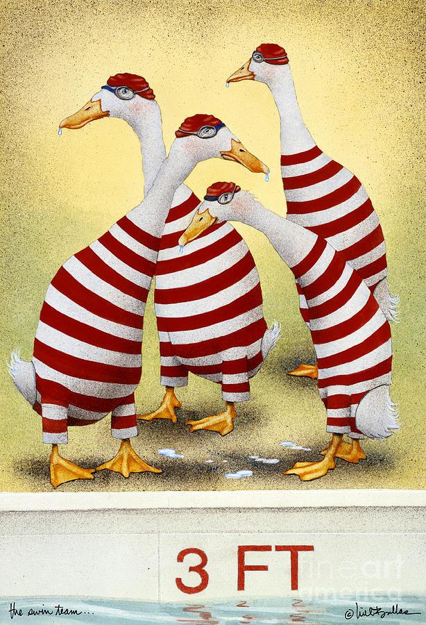 Will Bullas Painting - The Swim Team... by Will Bullas