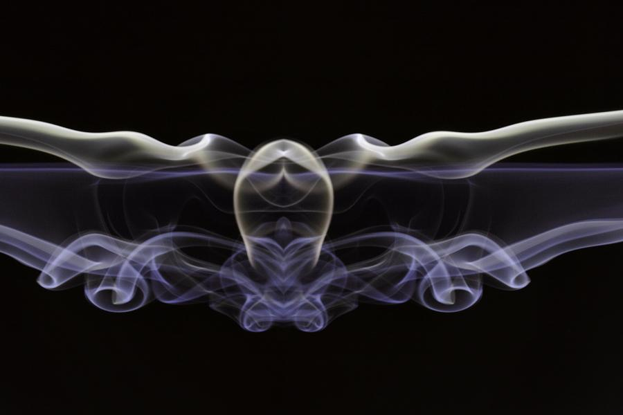Smoke Photograph - The Swimmer by Mike Farslow