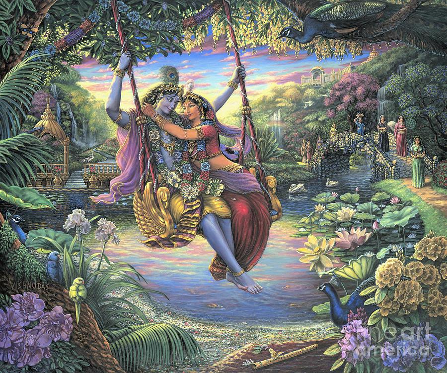The Swing Pastime by Vishnudas Art
