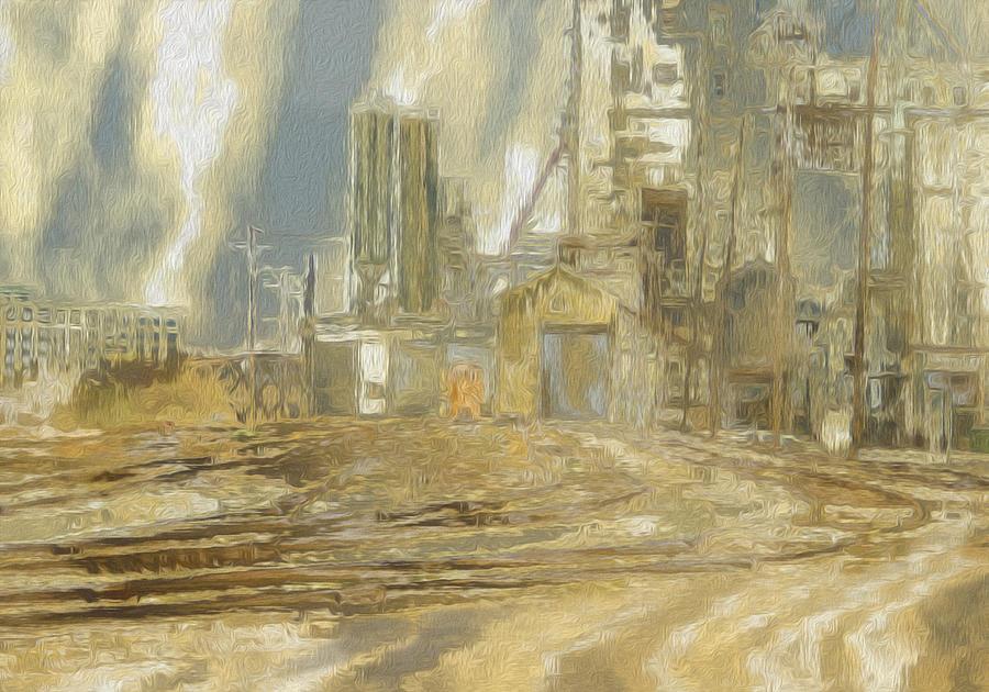 Rail Painting - The Switch Yard by Jack Zulli