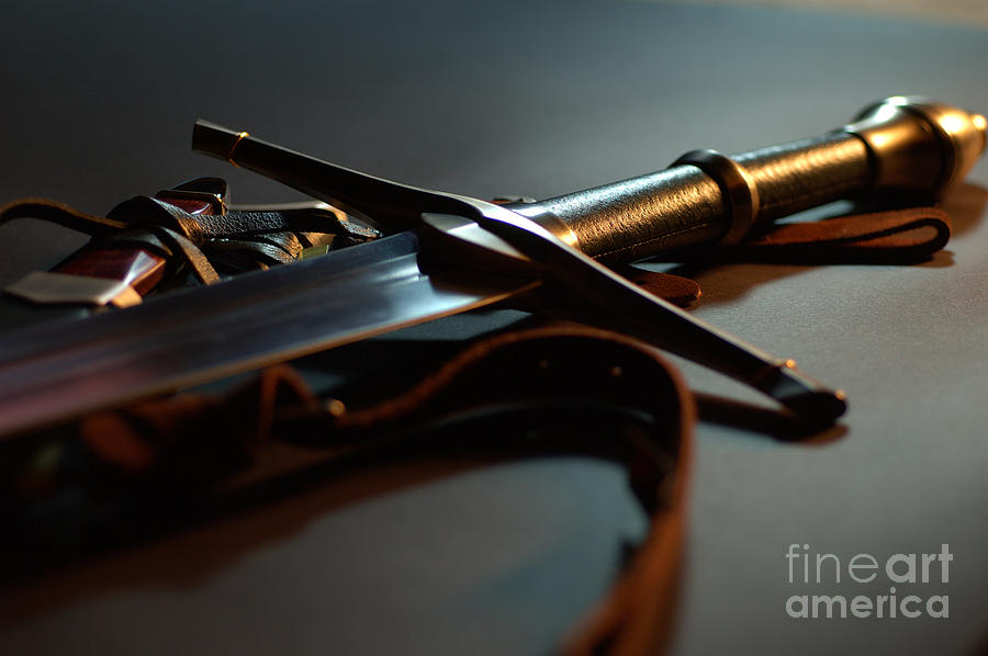 Sword Photograph - The Sword Of Aragorn 1 by Micah May