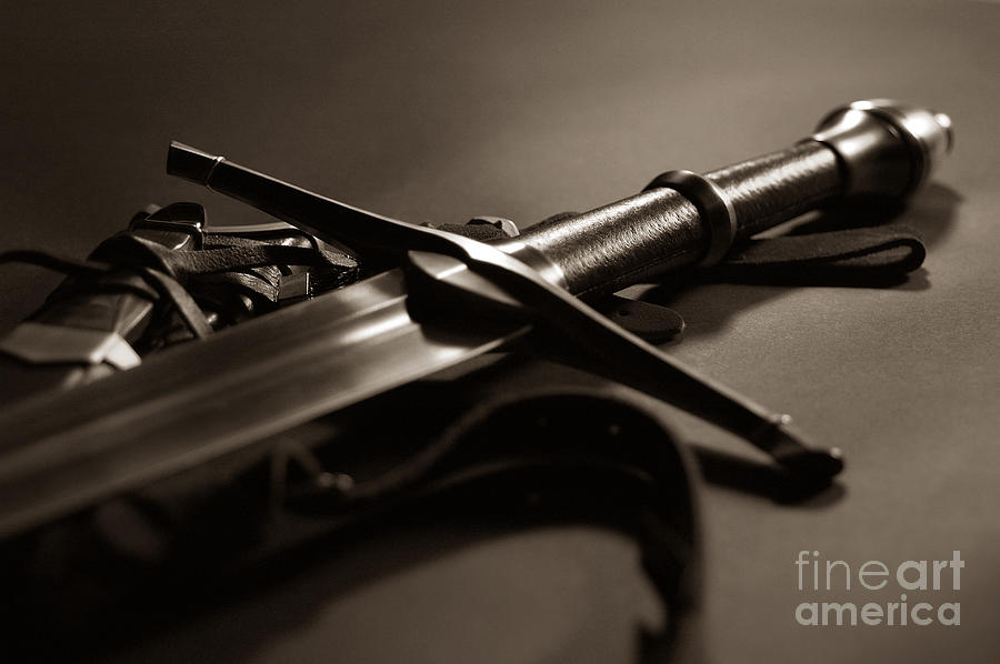 Sword Photograph - The Sword Of Aragorn 2 by Micah May