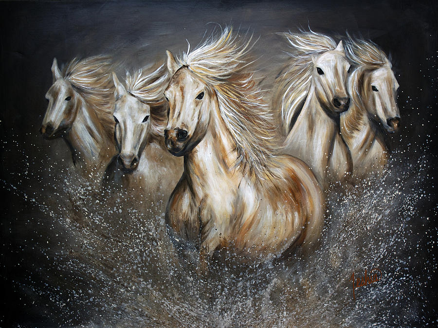 Horse Painting - The Symphony by Teshia Art