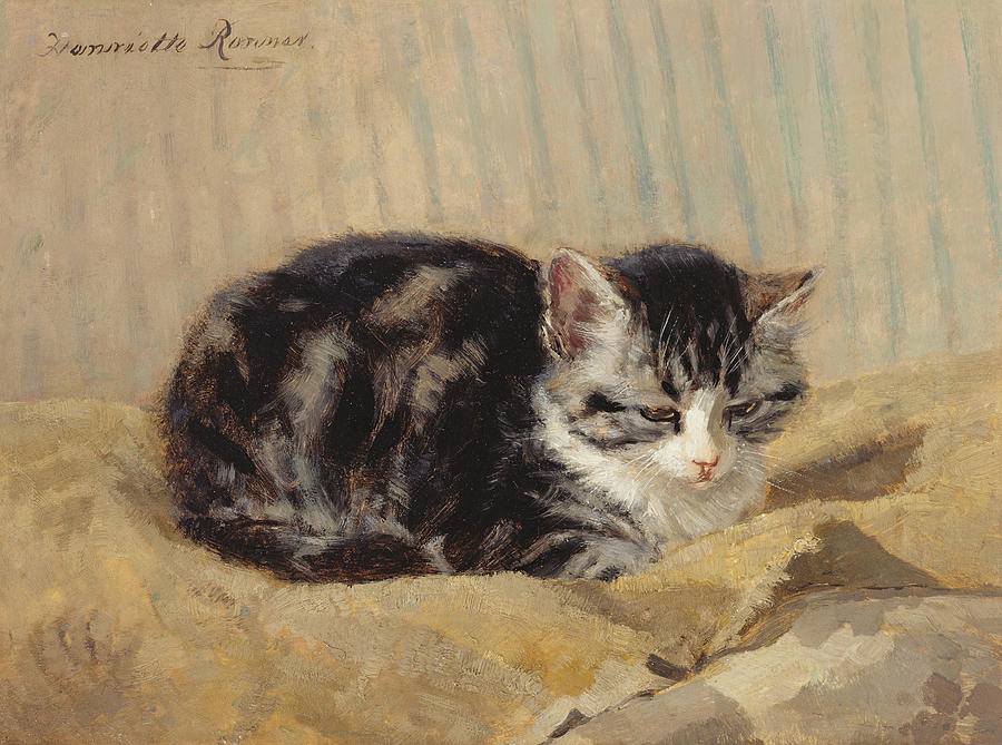 Cat Painting - The Tabby by Henriette Ronner-Knip