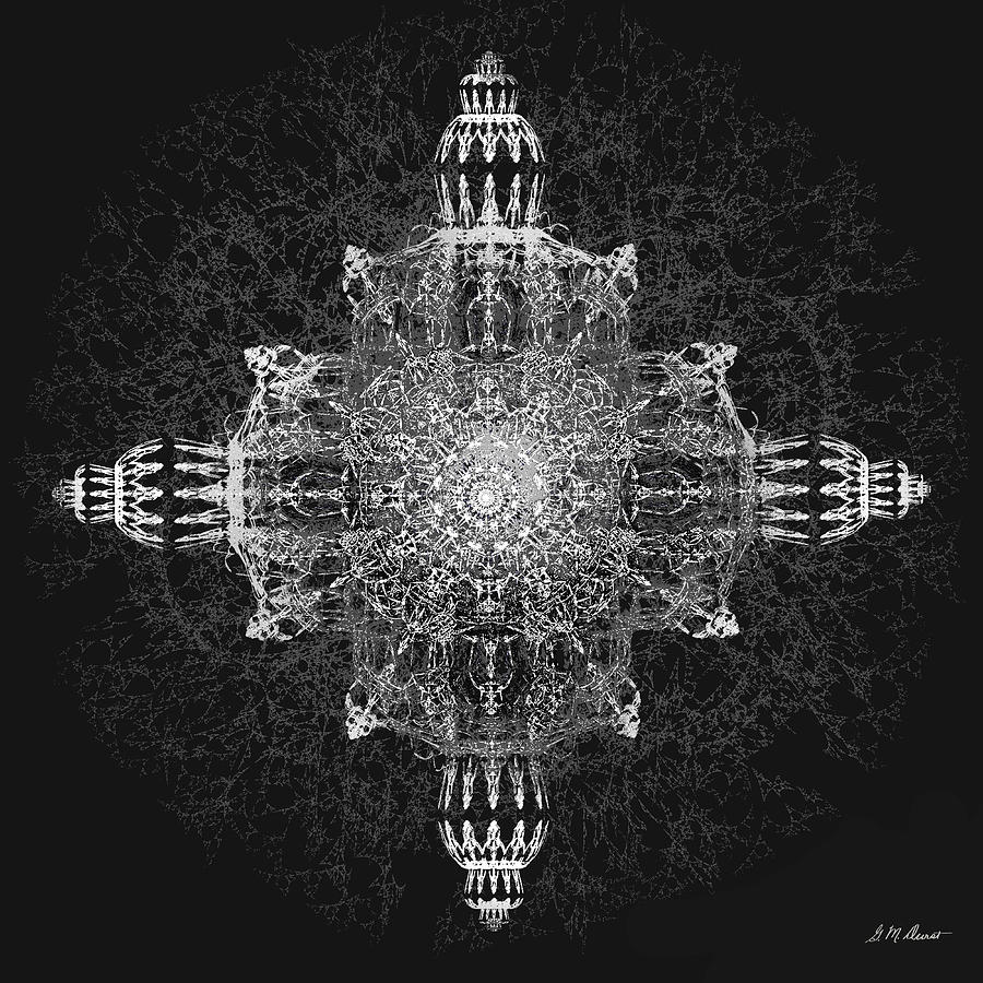 Fractal Digital Art - The Tabernacle In Black And White by Michael Durst