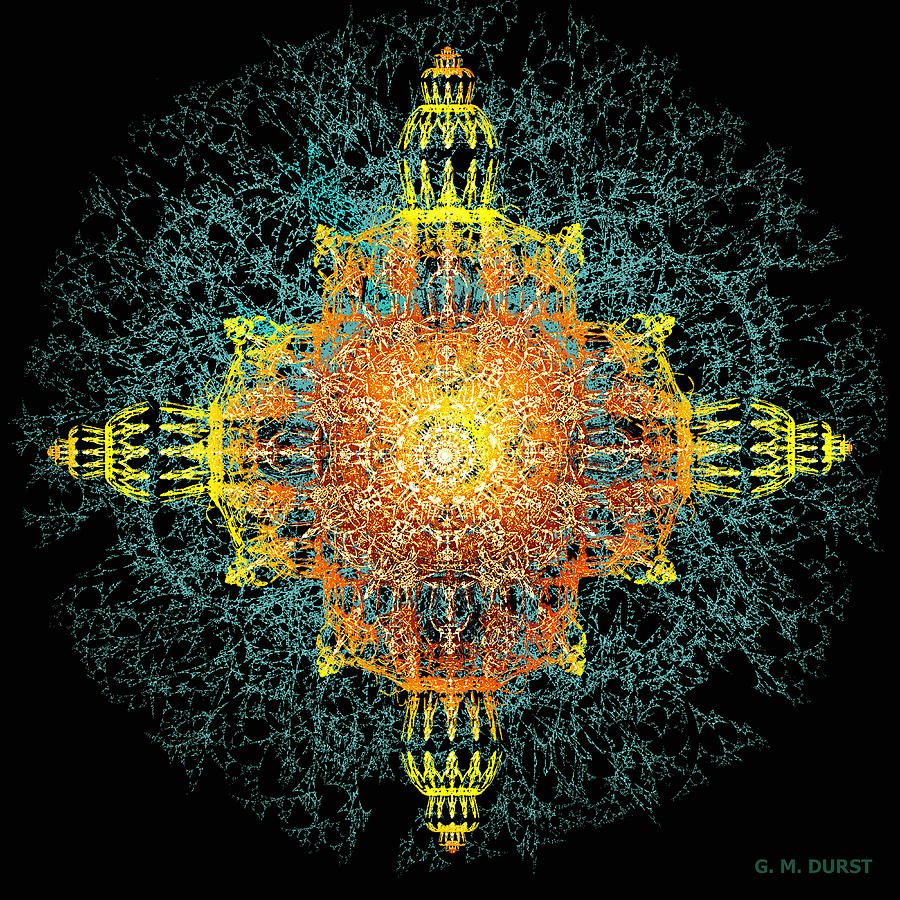 Fractal Digital Art - The Tabernacle by Michael Durst