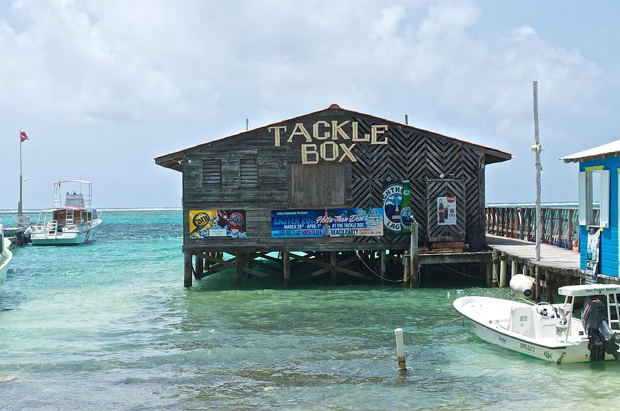 Buildings Photograph - The Tackle Box Sign by Kristina Deane