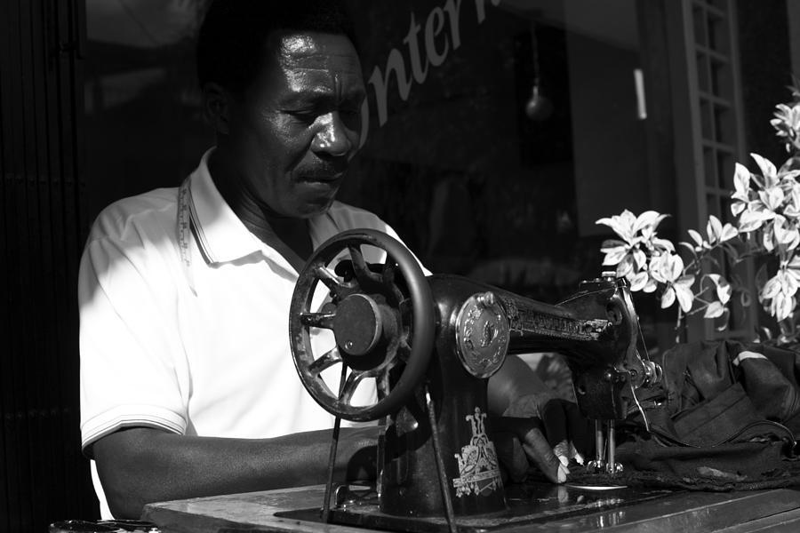 People Photograph - The Tailor - Tanzania by Aidan Moran
