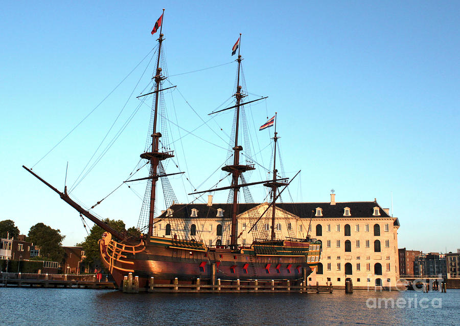Amsterdam Photograph - The Tall Clipper Ship Stad Amsterdam - Sailing Ship  - 05 by Gregory Dyer