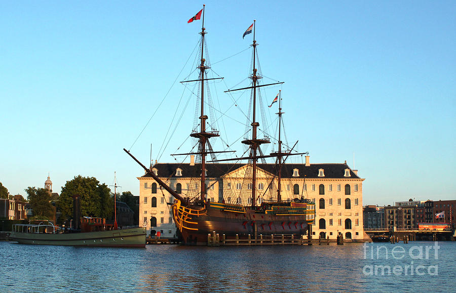 Amsterdam Photograph - The Tall Clipper Ship Stad Amsterdam - Sailing Ship - 07 by Gregory Dyer