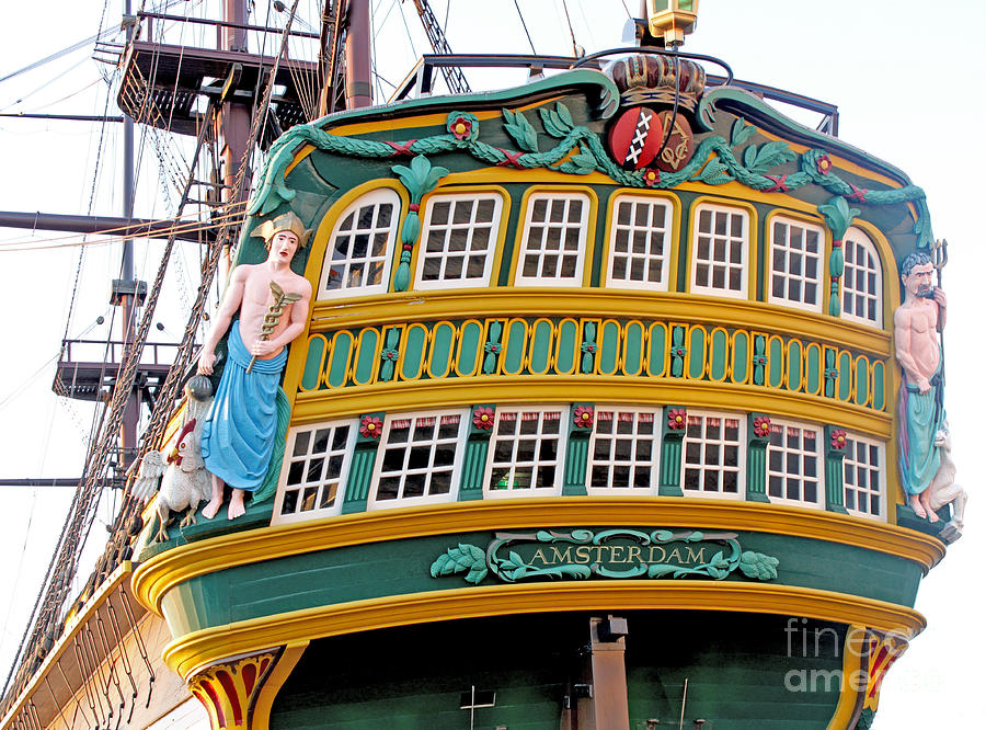 Amsterdam Photograph - The Tall Clipper Ship Stad Amsterdam - Sailing Ship  - 09 by Gregory Dyer