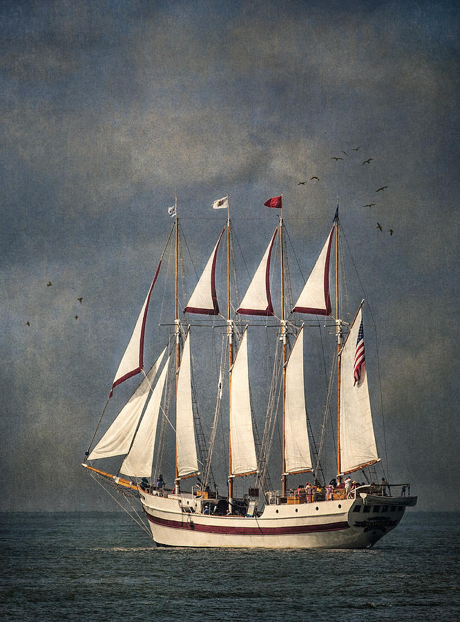 Windy Photograph - The Tall Ship Windy by Dale Kincaid