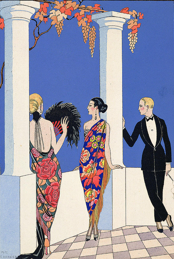 Female Painting - The Taste Of Shawls by Georges Barbier