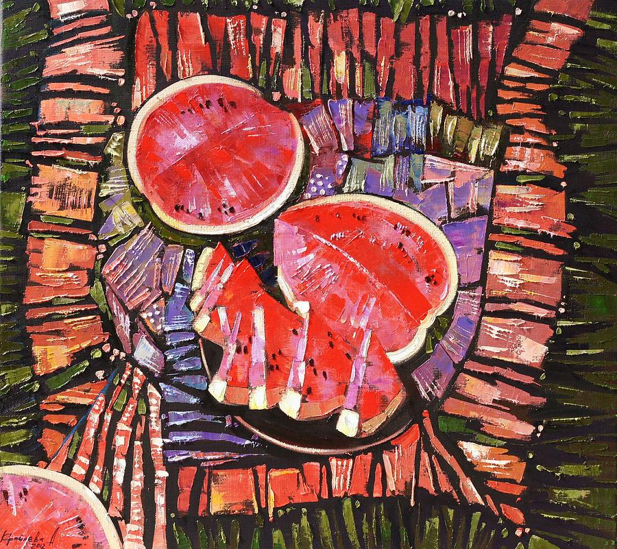 Oil On Canvas Painting - The Taste Of Summer. by Anastasija Kraineva
