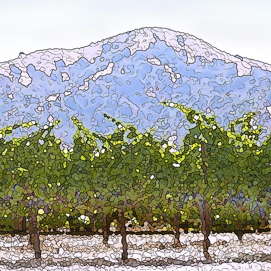 Ready For Harvest Painting - The Taste Of Wine by Artist and Photographer Laura Wrede