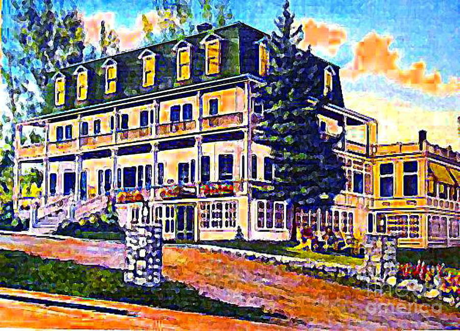 Wilmington Ny Painting - The Tavern Inn In Wilmington N Y In 1910 by Dwight Goss