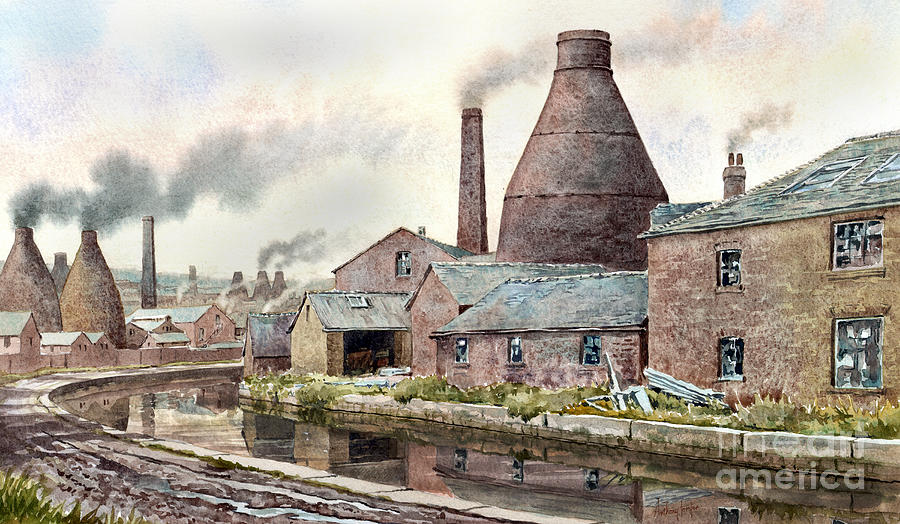 Longport Painting - The Teapot Factory by Anthony Forster